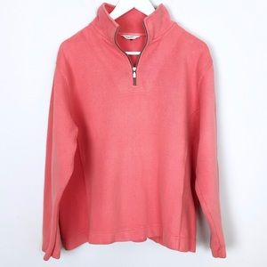 Tommy Bahama Melon Quarter Zip Pullover - Size XL